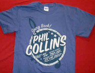 Phil Collins T-Shirt Going Back Blue Size Medium