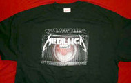 Metallica T-Shirt Guitar Amp Logo Black Size Large