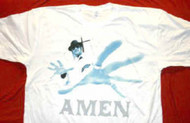 Kid Rock T-Shirt Amen Logo White Size Large