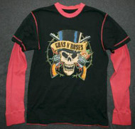 Guns n' Roses Long Sleeve Thermal T-Shirt Size Medium