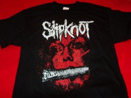 Slipknot T-Shirt Zipper Face Logo Black Size Large
