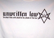 Unwritten Law T-Shirt Do What Thou Wilt White Size XL