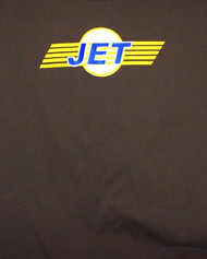 Jet T-Shirt Stripe Logo Brown Size Small