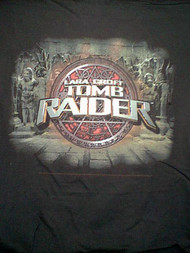 Tomb Raider T-Shirt Lara Croft Statues Black Size XL