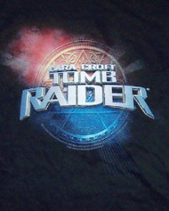 Tomb Raider T-Shirt Lara Croft Movie Logo Black Size XL