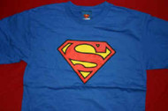 Superman T-Shirt Classic Logo Blue Size Youth XL