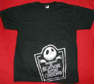 Nightmare Before Christmas T-Shirt Jack Logo Black Size Large