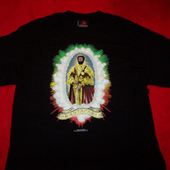 Haile Selassie T-Shirt Rastafari Black Size Medium