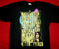 Bob Marley T-Shirt Song List Black Size Small