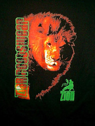 Zion Rootswear T-Shirt Lion Of Judah Black Size Medium