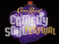 Crown Royal Comedy Soul Festival T-Shirt Black Size Medium