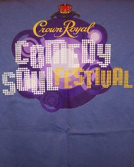 Crown Royal Comedy Soul Festival T-Shirt Blue Size Small