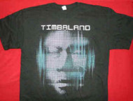 Timbaland T-Shirt Shock Value Tour Black Size XXXL