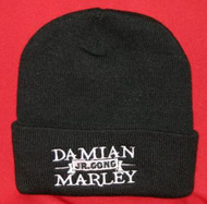 Damian Marley Beanie Cap Jr Gong Logo Black One Size  Fits All