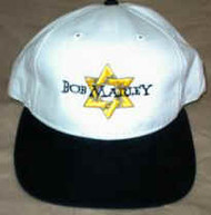 Bob Marley Hat Star Logo Black White One Size Fits All