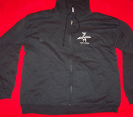 The Vines Zipper Hoodie Sweatshirt Highly Evolved Black Size Large