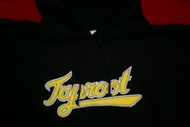 Taproot Hoodie Sweatshirt Baseball Logo Black Size Large