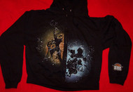 Outkast Zipper Hoodie Sweatshirt Black Size Small