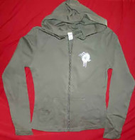 Linkin Park Zipper Hoodie Sweatshirt Green Women Size Junior Medium