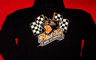 Black Kat Hoodie Sweatshirt Speed And Customs Black Size Large