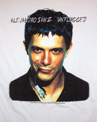 Alejandro Sanz T-Shirt Unplugged White Size XL