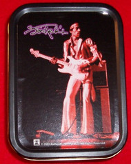 "Jimi Hendrix Metal Tin Live On Stage 2.5"" x 3.25"""