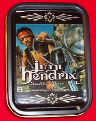 "Jimi Hendrix Metal Tin South Saturn Delta 3"" x 4"""