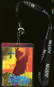 Justin Timberlake Justified Lanyard And Tour Pass