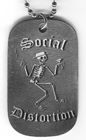 Social Distortion Dog Tags Skelly Logo