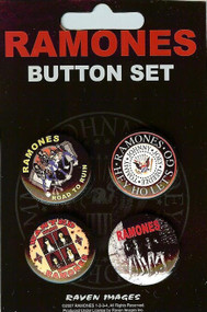 The Ramones Four Button Pin Set