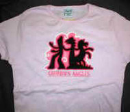 Gumby's Angles Babydoll T-Shirt Pink Size Small