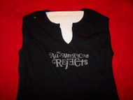 All-American Rejects Sleeveless Babydoll Shirt Black One Size