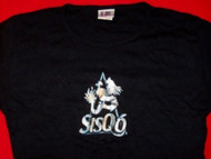 Sisqo Babydoll T-Shirt Dragon Logo Black Women One Size