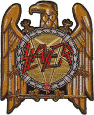 Slayer Iron-On Patch Gold Eagle Logo