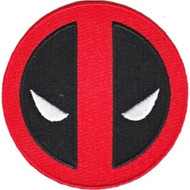 Deadpool Iron-On Patch Round Eyes Logo