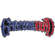 Grateful Dead Iron-On Patch 50th Anniversary Red White And Blue Logo