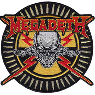 Megadeth Iron-On Patch Skull And Bullets Logo