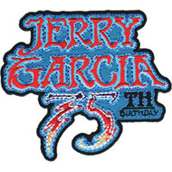Jerry Garcia Iron-On Patch 75th Stacked Letters Logo