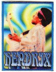 Jimi Hendrix Iron-On Patch Woodstock