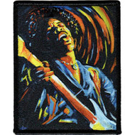 Jimi Hendrix Iron-On Patch Performs