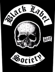 Black Label Society Sew On Canvas Back Patch Skull Logo