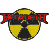 Megadeth Iron-On Patch Radioactive Logo