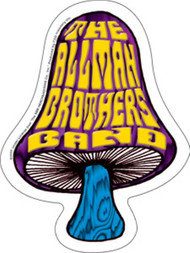 Allman Brothers Band Vinyl Sticker Die Cut Mushroom Logo