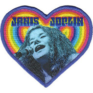 Janis Joplin Iron-On Patch Heart Logo
