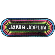 Janis Joplin Iron-On Patch Oval Rainbow Logo
