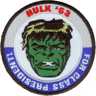 The Hulk Iron-On Patch Round For President Logo
