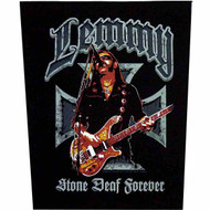 Motorhead Lemmy Sew On Canvas Back Patch Stone Deaf Forever Logo