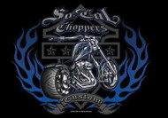 So California Choppers Poster Flag Custom Blue Hog Tapestry