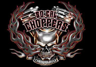 So California Choppers Poster Flag Rule Skull Logo Tapestry