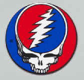Grateful Dead Vinyl Mini Sticker Circle Steal Your Face Logo